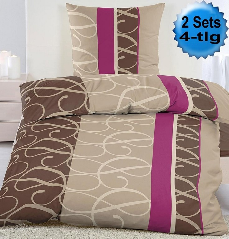 4 Tlg Biber Winter Bettwsche 2x 135 X 200 Real with regard to sizing 982 X 1024
