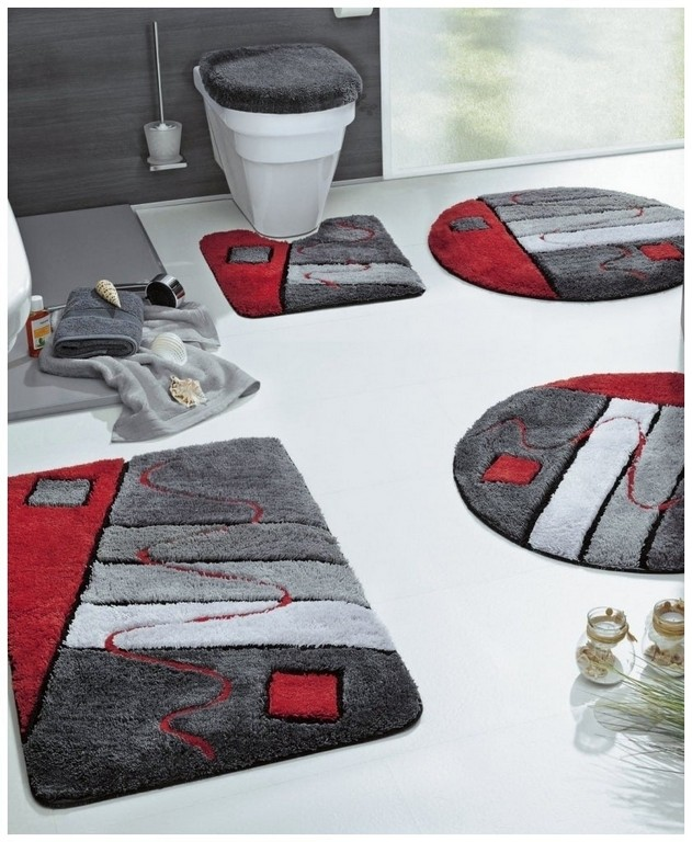 Badezimmer Garnitur 105831 Hausdesign Badgarnitur Rot Atemberaubend throughout sizing 841 X 1024
