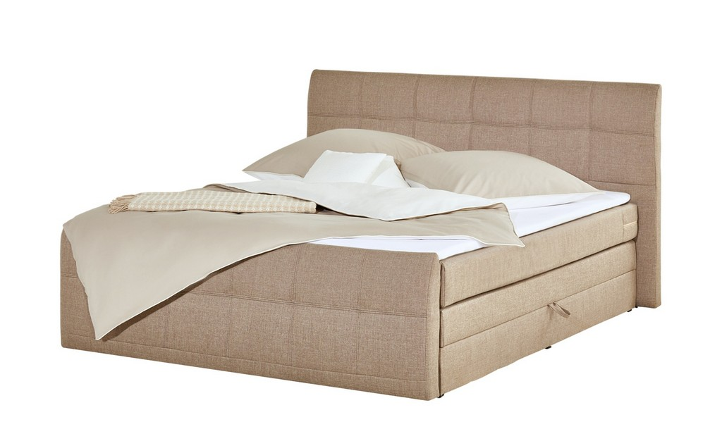Boxspringbett 180x200 Mit Bettkasten Sand Mbel Kraft regarding measurements 2000 X 1222