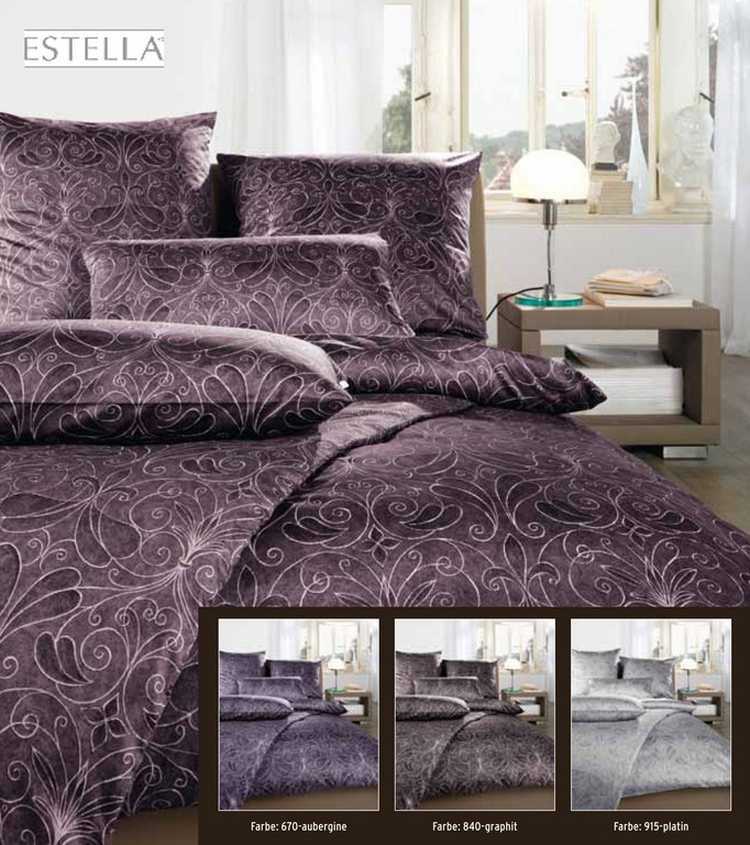 Estella Satin Bettwsche 200x200 200x220 Oder 240x220 In Graphit intended for dimensions 1984 X 2233