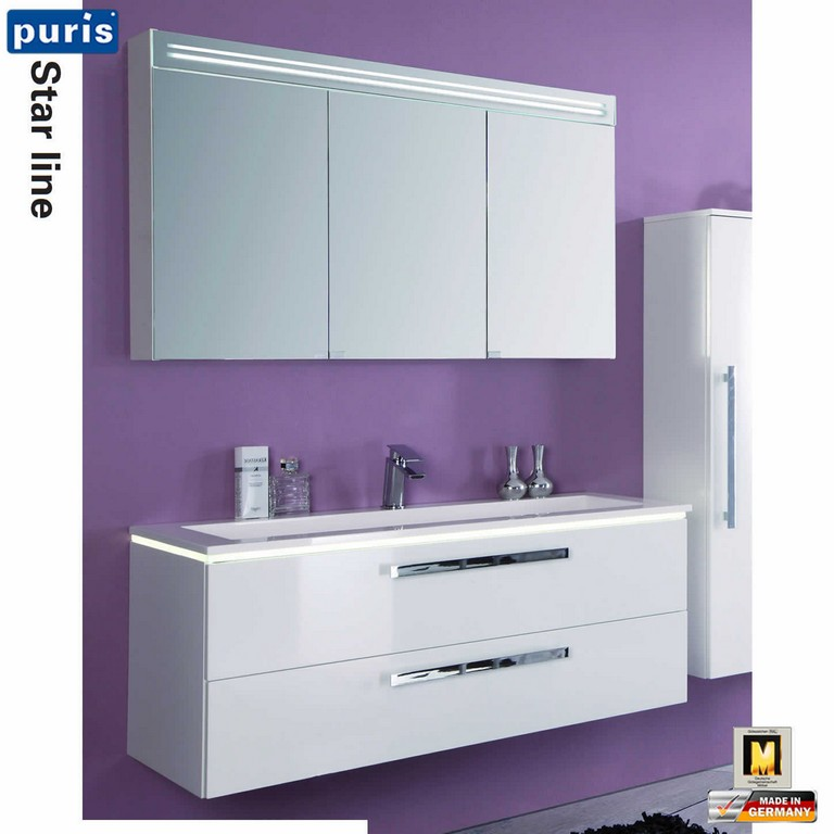 Puris Star Line Badmbel Set 120 Cm Mit Spiegelschrank Serie A Stm intended for measurements 1450 X 1450