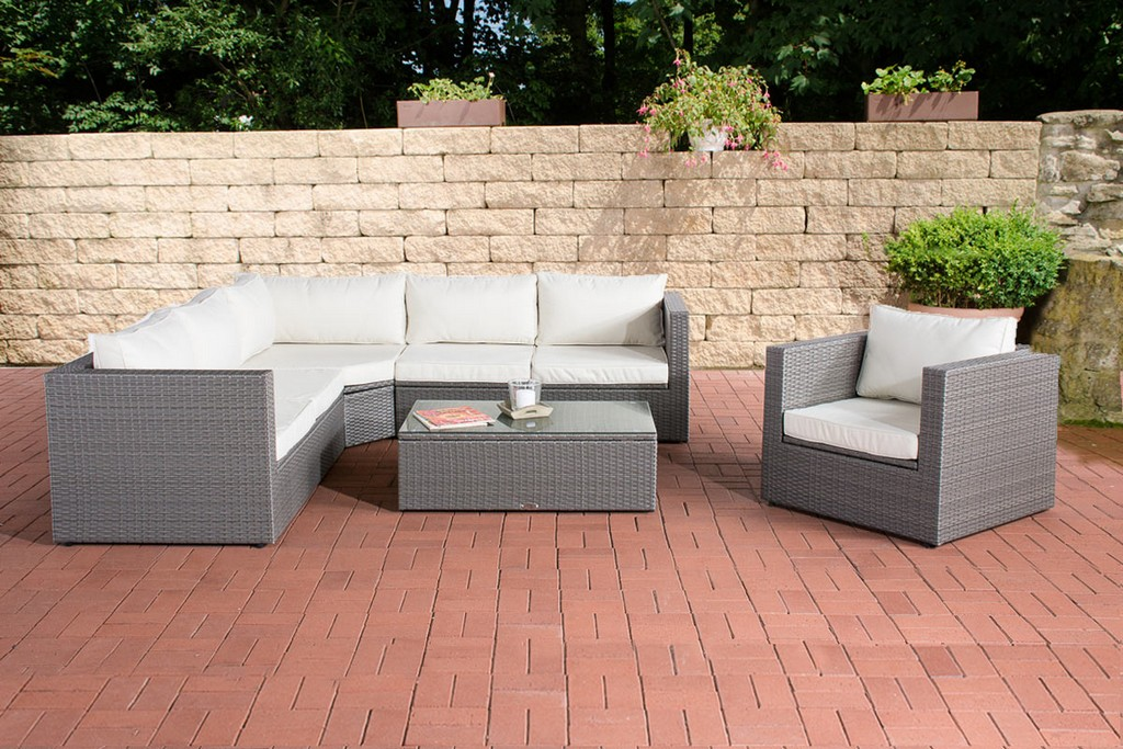 Rattan Lounge Set Tibera Gartenmbel Set Polyrattan Loungembel Set regarding sizing 1200 X 800