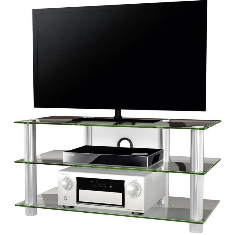 Tv Rack Netasa Vcm Morgenthaler Aluminium Glass Silver inside measurements 1000 X 1000