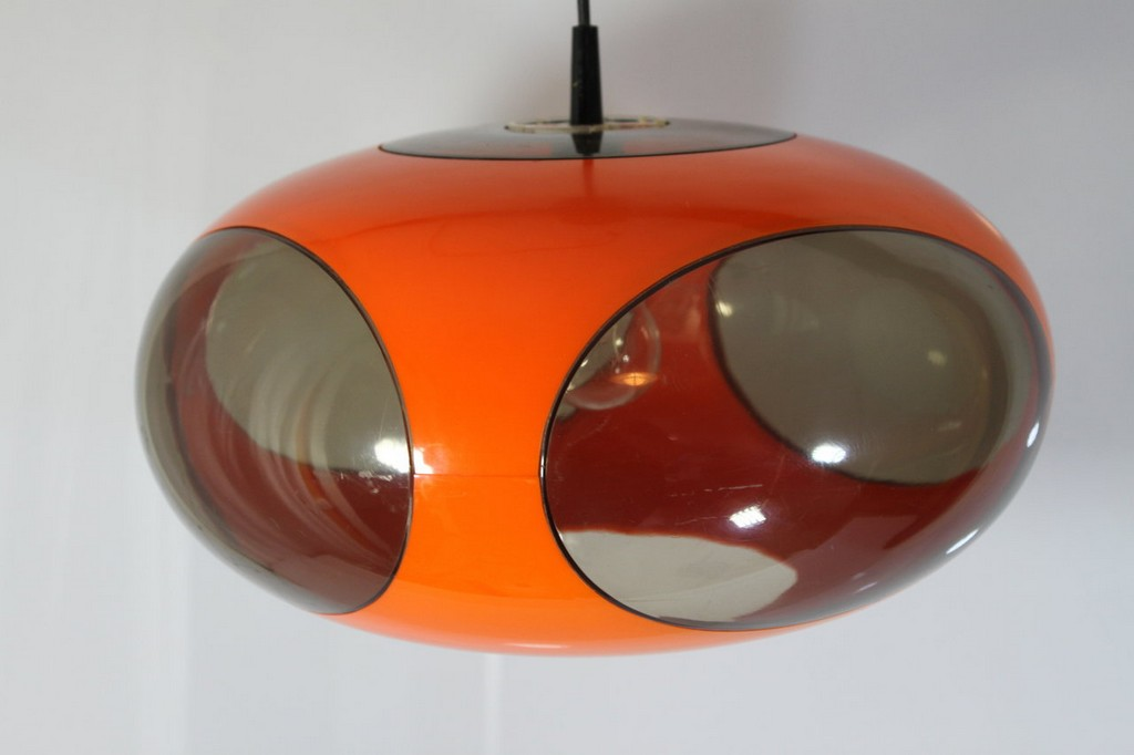 Original 70er Jahre Ufo Lampe Luigi Colani Orange with regard to measurements 1280 X 853