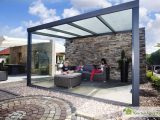 Alu Terrassenberdachung Le Polycarbonat 500 X 450 Gartenhaus Kingde with regard to measurements 1280 X 853