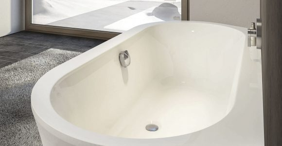 Freistehende Badewanne Oval Aus Acryl Prime Line Wall for proportions 1500 X 1500