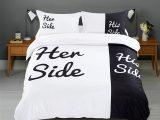 Her Side His Side Bettwsche Set Geschenk Fr within measurements 1286 X 1500