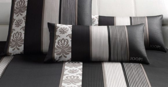 Joop Ornament Stripes Bettwsche Schwarz 4022 09 Slewo intended for size 1500 X 1200