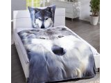 Microfleece Bettwsche Wolf 135×200 Wei Grau Dnisches Bettenlager for sizing 960 X 960