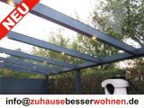 Terrassenberdachung Carport Aluminium Terrassendach Anthrazit Vsg pertaining to proportions 1600 X 1199